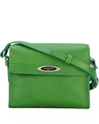 Bolso bandolera de cuero verde de Lanvin