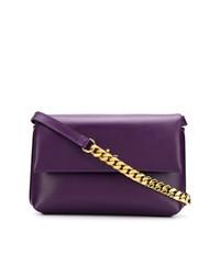 Bolso Bandolera de Cuero Violeta de Philippe Model