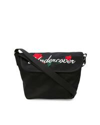 Bolso bandolera de lona estampado negro de Undercover