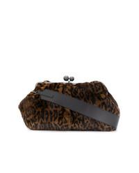 Bolso bandolera de pelo de leopardo marrón de Weekend Max Mara