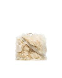 Bolso bandolera de pelo en beige de Natasha Zinko