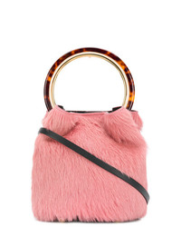 Bolso bandolera de pelo rosado de Marni