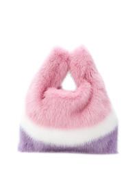 Bolso bandolera de pelo rosado de Simonetta Ravizza