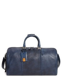 Bolso baúl de cuero azul marino
