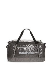 Bolso baúl de cuero en gris oscuro