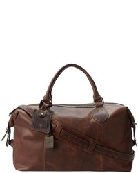 Bolso baúl de cuero en marrón oscuro de Frye