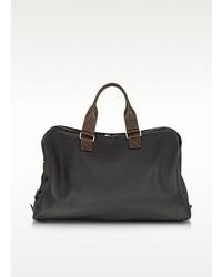 Bolso baúl de cuero negro