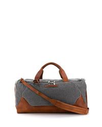 Bolso baúl de lona en gris oscuro de Brunello Cucinelli