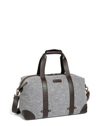 Bolso baúl de lona gris