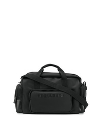 Bolso baúl de lona negro de DSQUARED2