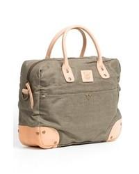 Bolso baúl de lona verde oliva