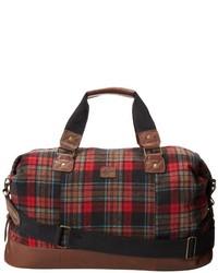 Bolso baúl de tartán rojo de Original Penguin