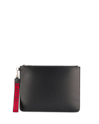 Bolso con cremallera de cuero negro de Givenchy