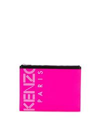 Bolso con cremallera de cuero rosa de Kenzo