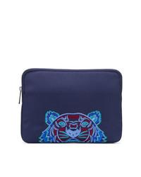 Bolso con cremallera de lona azul marino de Kenzo