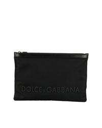 Bolso con cremallera de lona negro de Dolce & Gabbana