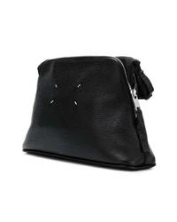 Bolso con cremallera de lona negro de Maison Margiela