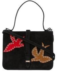 Bolso de ante negro de RED Valentino