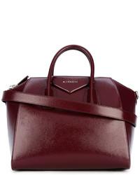 Bolso de cuero burdeos de Givenchy