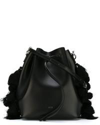 Bolso de cuero con adornos negro de No.21