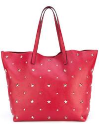 Bolso de Cuero de Estrellas Rojo de RED Valentino