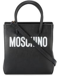Bolso de cuero estampado negro de Moschino