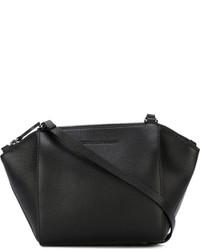 Bolso de cuero negro de Cédric Charlier