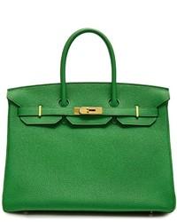 Bolso de cuero verde de Hermes