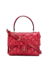 Bolso de hombre de cuero acolchado rojo de Valentino