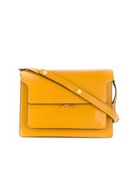 Bolso de hombre de cuero amarillo de Marni