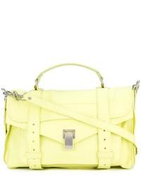 Bolso de hombre de cuero amarillo de Proenza Schouler