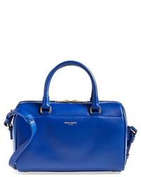 Bolso de hombre de cuero azul