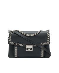 Bolso de hombre de cuero con adornos negro de Givenchy