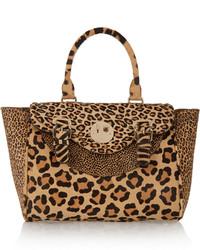 Bolso de Hombre de Cuero de Leopardo Marrón Claro de Hill & Friends