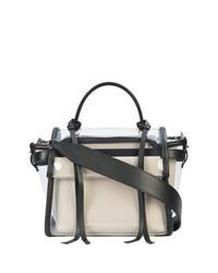 Bolso de hombre de cuero en blanco y negro de Elena Ghisellini