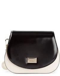 Bolso de hombre de cuero en negro y blanco de DKNY