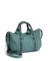 Bolso de hombre de cuero en verde azulado