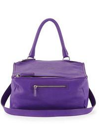 Bolso de hombre de cuero en violeta