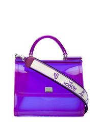 Bolso de hombre de cuero en violeta de Dolce & Gabbana