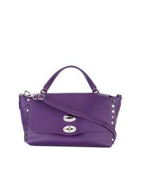 Bolso de hombre de cuero en violeta de Zanellato