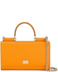 Bolso de hombre de cuero naranja de Dolce & Gabbana