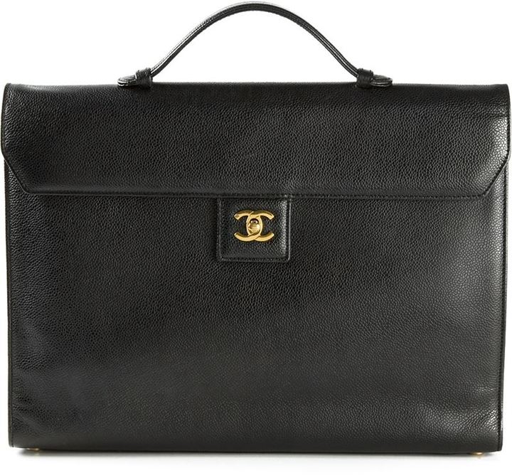 Bolso de Hombre de Cuero Negro de Chanel