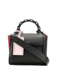 Bolso de hombre de cuero negro de Elena Ghisellini