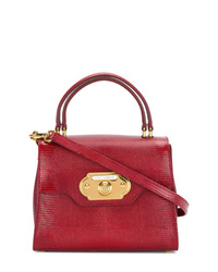 Bolso de hombre de cuero rojo de Dolce & Gabbana