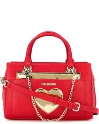 Bolso de hombre de cuero rojo de Love Moschino