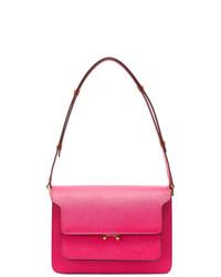 Bolso de hombre de cuero rosa de Marni