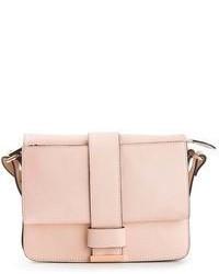 Bolso de hombre de cuero rosado