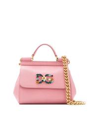 Bolso de hombre de cuero rosado de Dolce & Gabbana