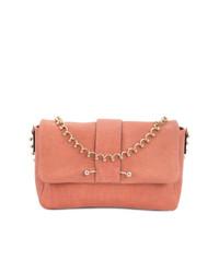 Bolso de hombre de cuero rosado de RED Valentino