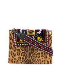 Bolso de hombre de leopardo marrón claro de Etro